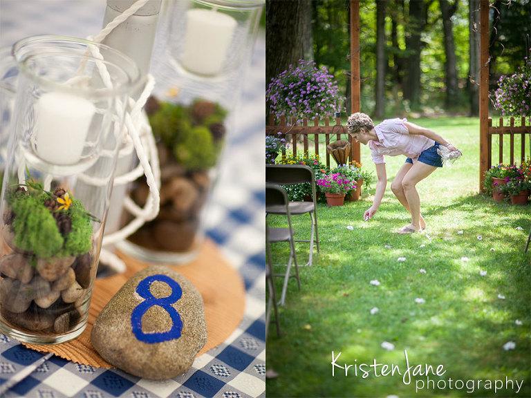 Maine Backyard Wedding - Kristen Jane Photography - Southern Maine Wedding Photographer