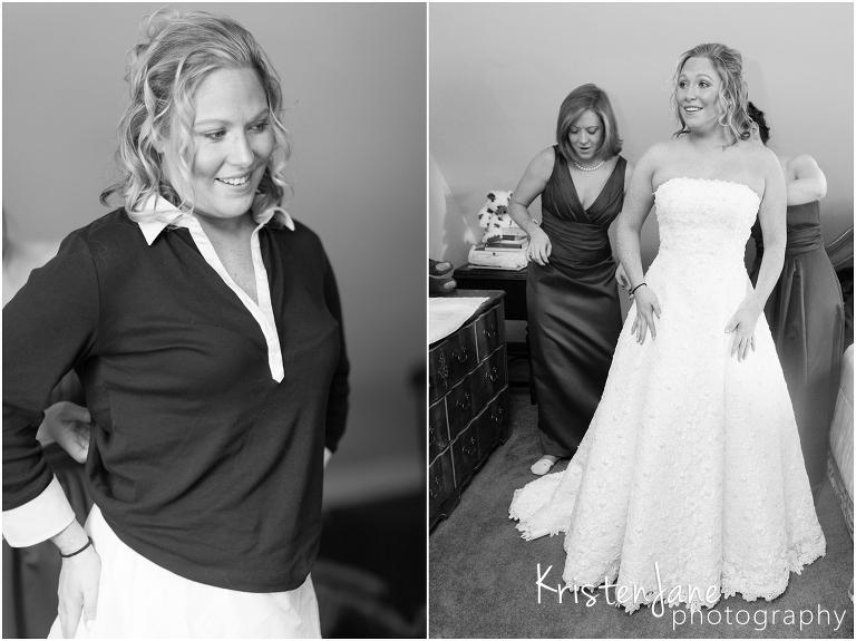Saybrook Point Inn Wedding - bride getting ready